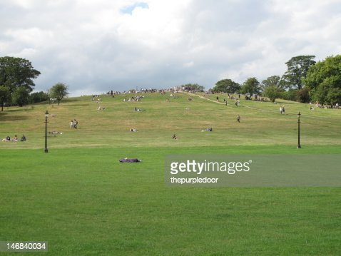 Crowd of people on primrose hill