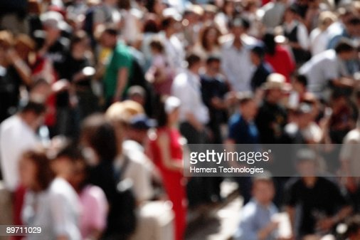 Crowd of people outdoors : Stock Photo