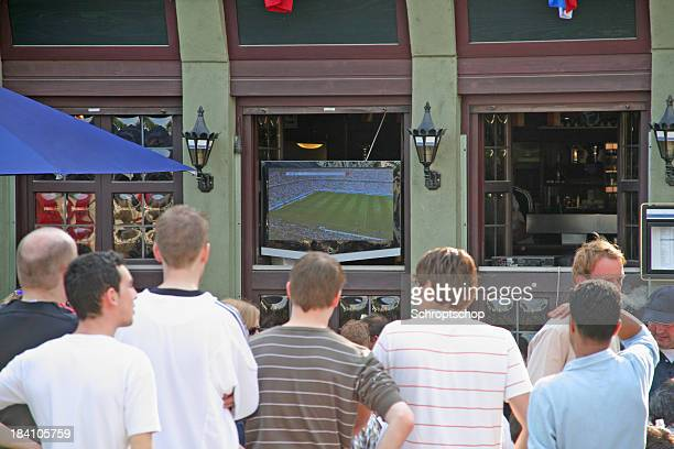 Crowd of people watching WM TV