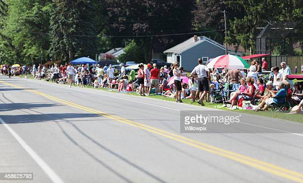 Crowd of Spectators Waiting for Parade