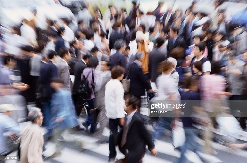 Crowd of Walking Business People : Stock Photo