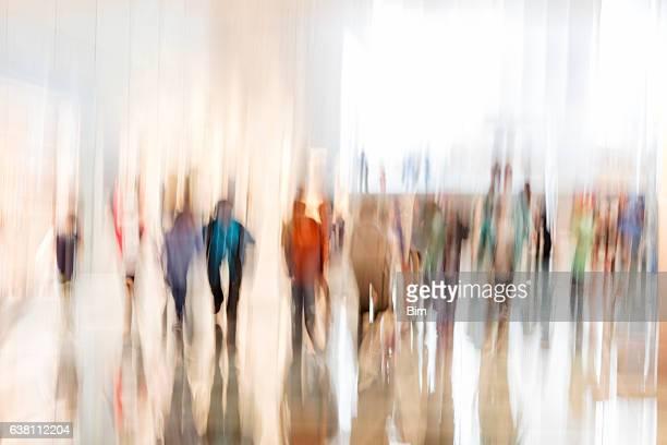Crowd of Walking People