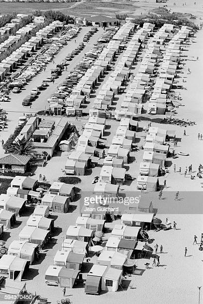 Crowd on Beach of Southern French Coast