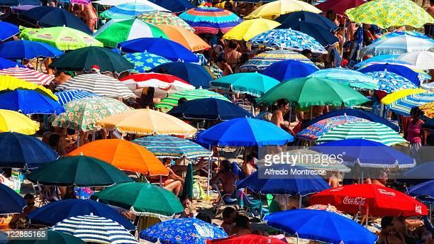 Crowd on Italian beach