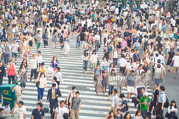 Crowd on Shibuya crossing