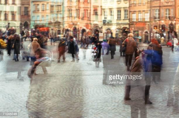 Crowd on street (blurred motion)