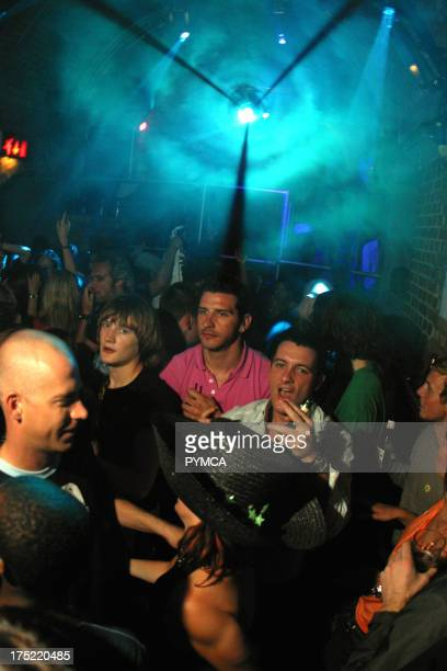 Crowd on the dancefloor at Fabric with Lasers London UK 2000's
