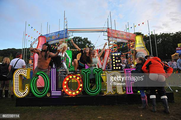 Crowd scene during Day 3 of Bestival at Robin Hill Country Park on September 10 2016 in Newport Isle of Wight