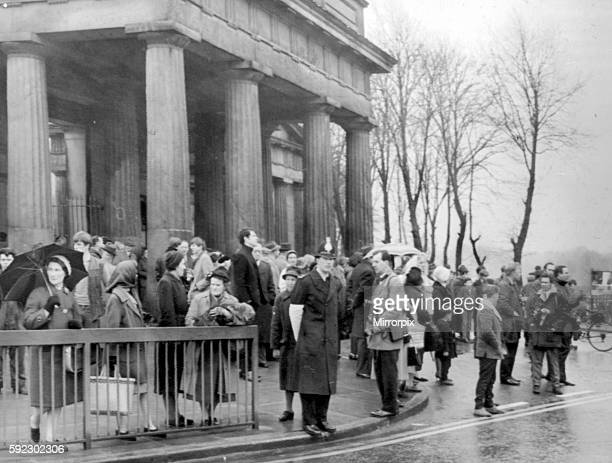 Crowd scene outside Courtroom Hyde Manchester 19th April 1966 The Moors murders were carried out by Ian Brady and Myra Hindley between July 1963 and...
