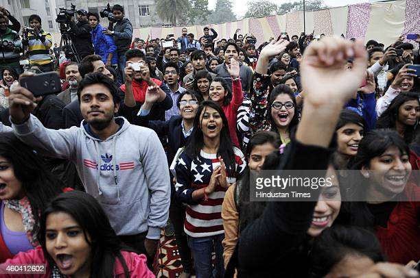 Crowd thronged the place during the auditions for the TV Show MTV Roadies Bollywood actors Esha Deol and Karan Kundra along with Boxer Vijender Singh...