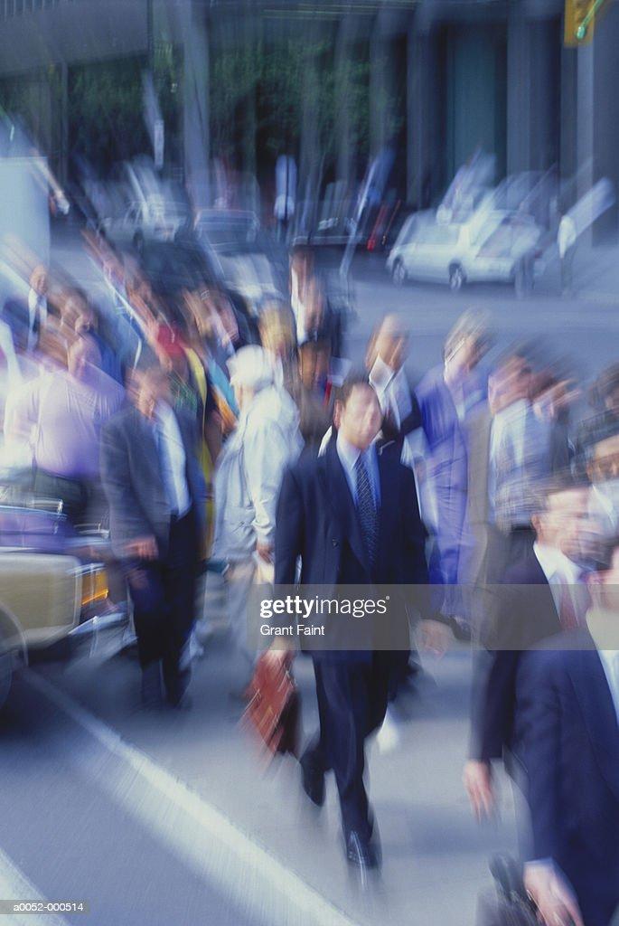 Crowd Walking on Street : Stock Photo