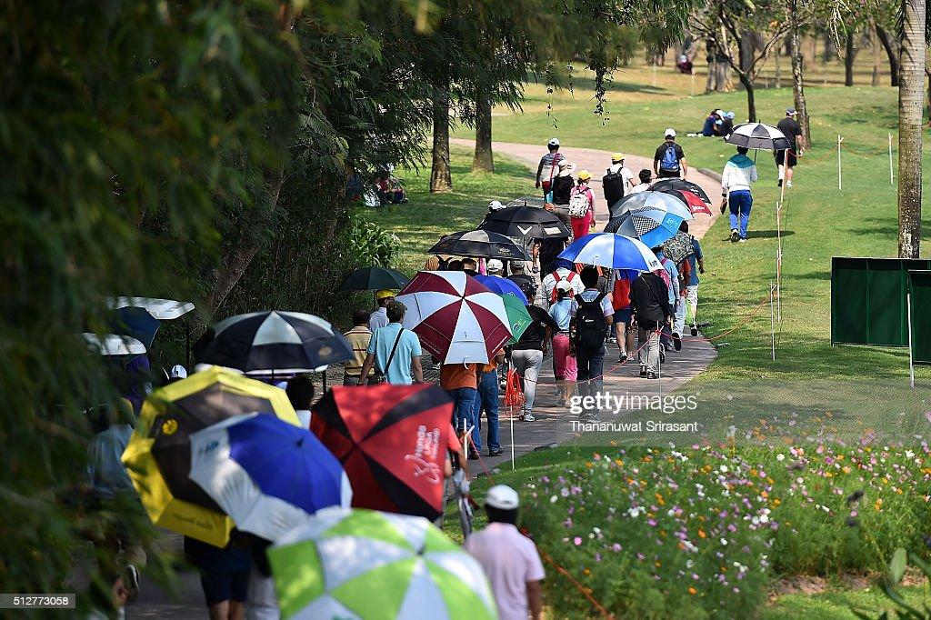 2018 honda lpga thailand. fine thailand crowd walks during day three of the 2016 honda lpga thailand at siam  country club on inside 2018 honda lpga thailand l
