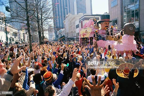 Crowd watching parade