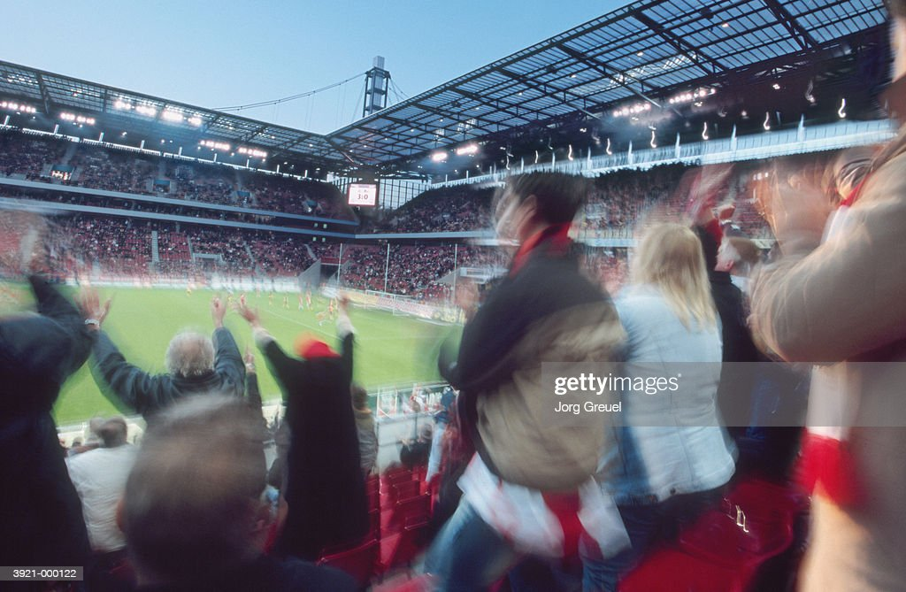 Crowd Watching Soccer : Stock Photo