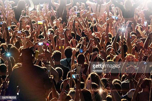 Crowd with smart phones
