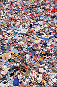 Crowded Beach in Germany