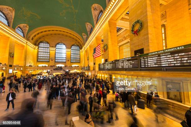 Crowded Grand Central Terminal for Christmas Holidays migration on Dec.23 2016 New York.