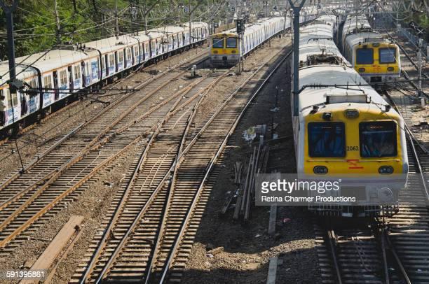 Crowded Mumbai Local Trains, India