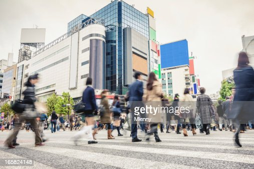 Lotado Cruzamento de Shibuya em Tóquio Japão