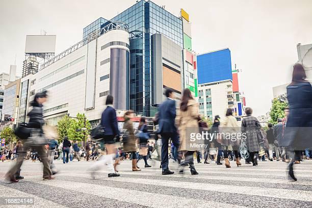 Crowded Shibuya Crossing Tokyo Japan