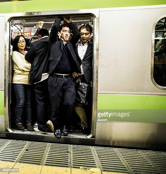 Überfüllten U-Bahn Tokio, Japan