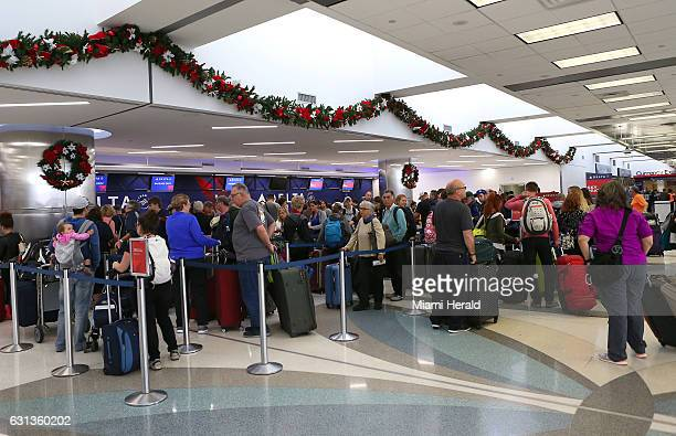 Crowds at Fort LauderdaleHollywood International Airport in Terminal 2 on Monday Jan 9 2017
