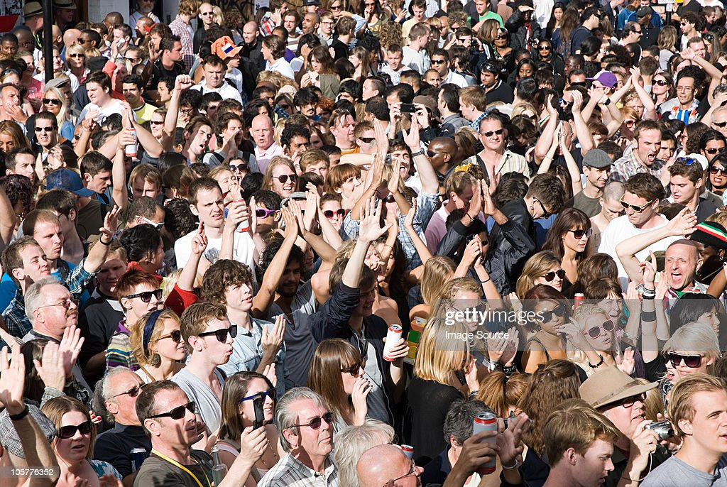 Crowds at Notting Hill Carnival, London : Stock Photo