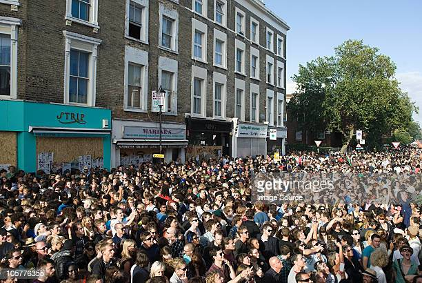Crowds at Notting Hill Carnival, London