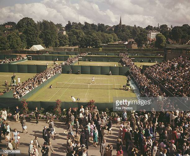 Crowds at the The All England Lawn Tennis and Croquet Club in Wimbledon London June 1966