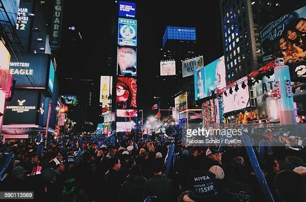 Crowds Celebrating New Year On Times Square