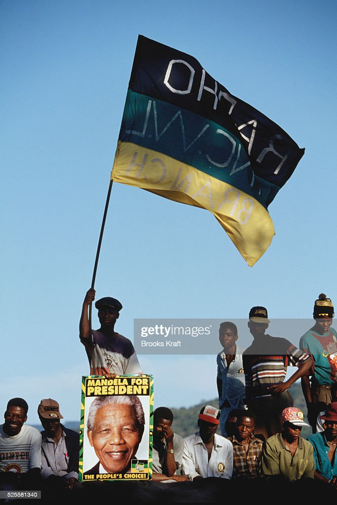 Crowds cheer Nelson Mandela at a campaign event After more then 27 years in jail as an antiapartheid activist Nelson Mandela lead a 1994 campaign for...