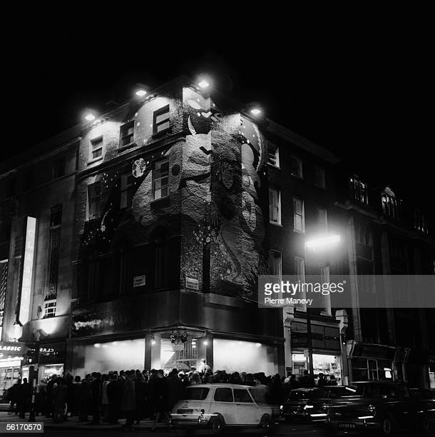Crowds flock to the opening of the Beatles' Apple boutique at 94 Baker Street London on the corner of Paddington Street 5th December 1967
