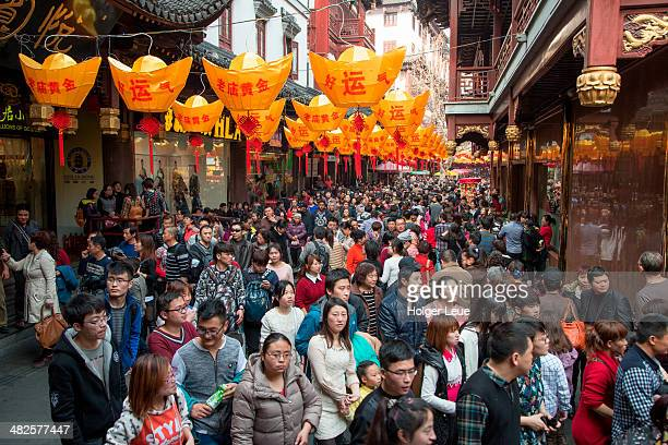 Crowds in Old Town during Chinese New Year