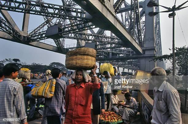 Crowds near Howrah bridge, Kolkata