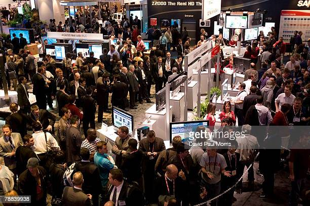 Crowds of people are seen at the 2008 International Consumer Electronics Show at the Las Vegas Convention Center January 8 2008 in Las Vegas Nevada...