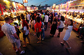 Crowds pack the sprawling Asian night Market in Richmond on a Sunday night that locals and visitors can easily access by the SkyTrain a light rapid...