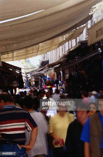 Crowds Shopping at Istanbul's Grand Bazaar