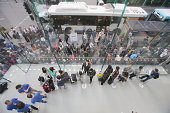 Crowds wait in anticipation for the release of the iPhone 6 at Apple Store on September 19 2014 in Sydney Australia Australian buyers get first dibs...