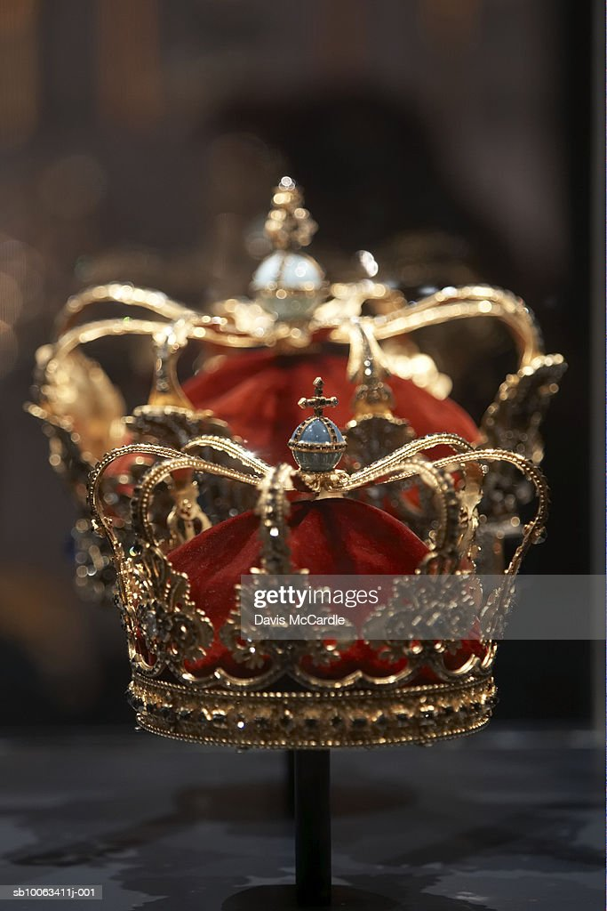Crown jewels in Rosenberg Castle, Copenhagen. Denmark. : Stock Photo