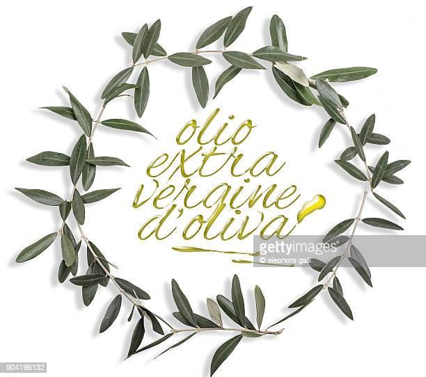 crown of olive leaves