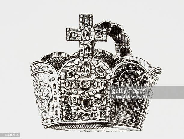 Crown Of The Emperor Charlemagne From The Cyclopaedia Or Universal Dictionary Of Arts Sciences And Literature By Abraham Rees Published London 1820