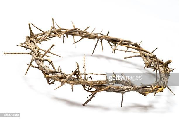 Coroa de Thorns em uma luz de fundo