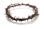 easter themed crown of thorns on white background