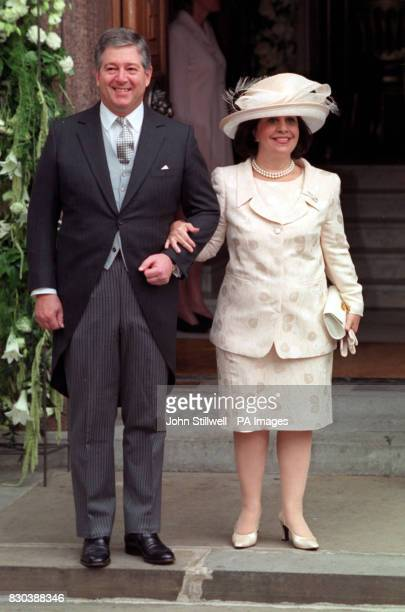 Crown Prince Alexander and Princess Catarina of Yugoslavia arrive at the Greek Orthodox Cathedral of St Sophia in Bayswater west London for the...