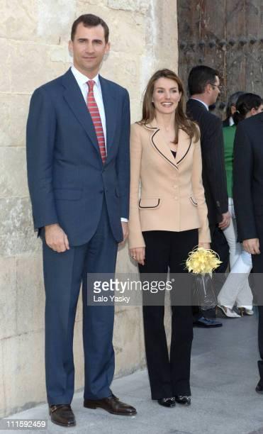 Crown Prince Felipe and Crown Princess Letizia during Crown Prince Felipe and Crown Princess Letizia Visit a Spanish Chocolate Factory a Shoe...