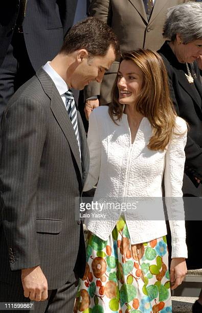 Crown Prince Felipe and Crown Princess Letizia during Crown Prince Felipe and Crown Princess Letizia Attend Official Audiences at Zarzuela Palace...