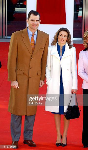 Crown Prince Felipe and Princess Letizia during Royal Opening of the New Madrid Sports Palace at Madrid Sports Palace in Madrid Spain