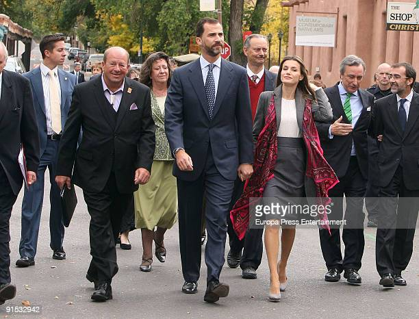 Crown Prince Felipe and Princess Letizia of Spain visit the New Mexico History Museum as part of events to commemorate the 400th anniversary of the...