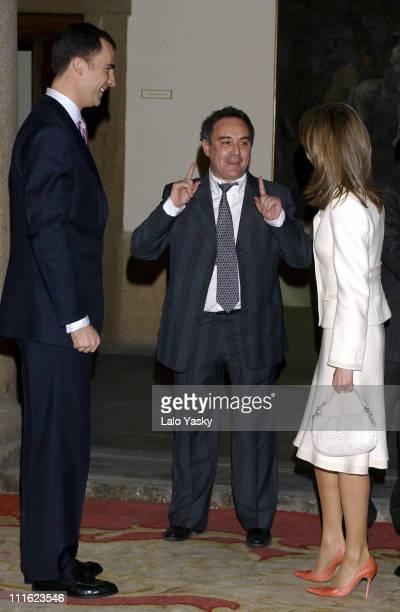 Crown Prince Felipe Chef Ferran Adri and Princess Letizia