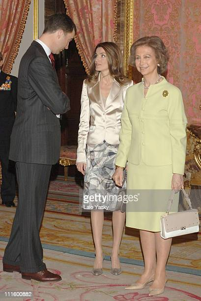 Crown Prince Felipe Crown Princess Letizia and Queen Sofia